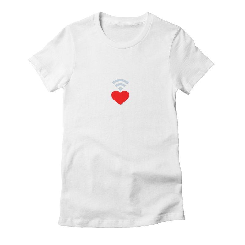 Farmington Voice logo Women's Fitted T-Shirt by farmingtonvoice's Artist Shop