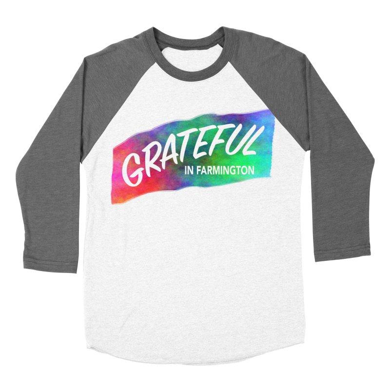 Grateful in Farmington Men's Baseball Triblend T-Shirt by farmingtonvoice's Artist Shop