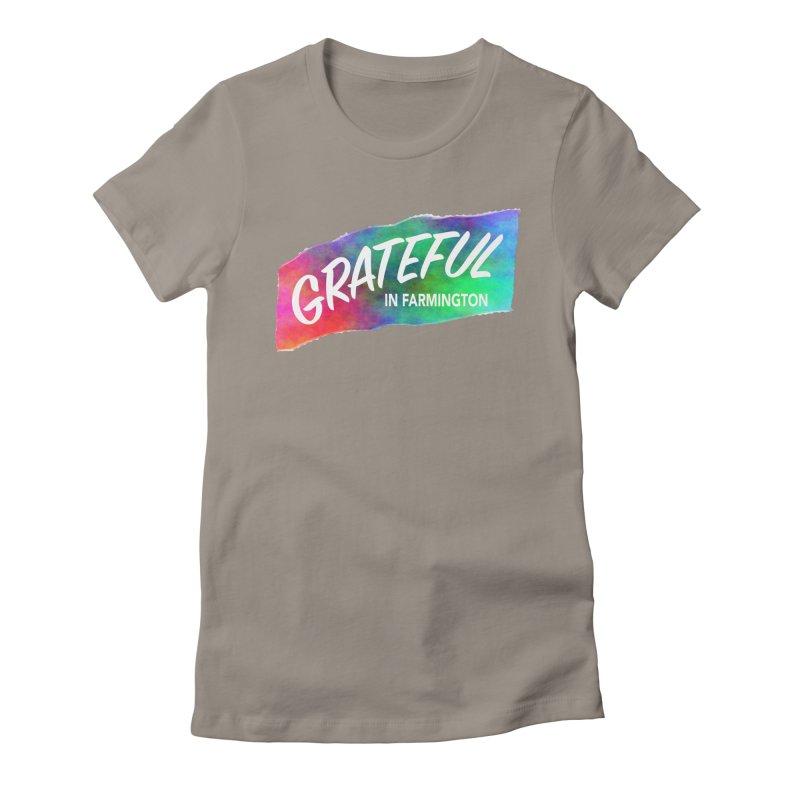 Grateful in Farmington Women's Fitted T-Shirt by farmingtonvoice's Artist Shop