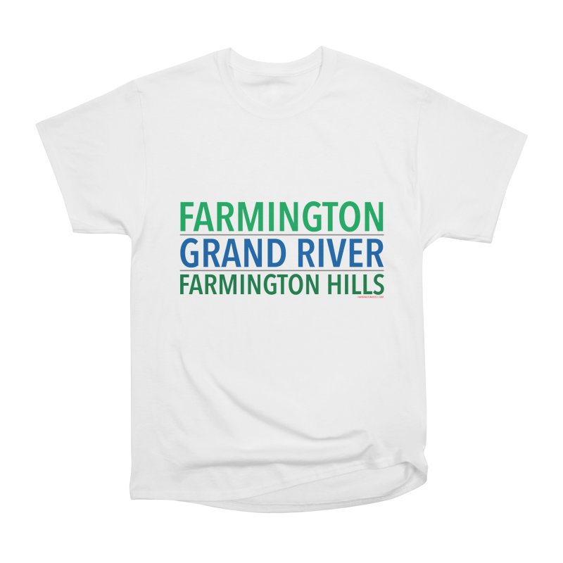 A (Grand) river runs through it Men's Heavyweight T-Shirt by farmingtonvoice's Artist Shop