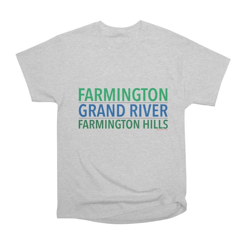 A (Grand) river runs through it Men's Heavyweight T-Shirt by farmingtonvoice's Artist Shop