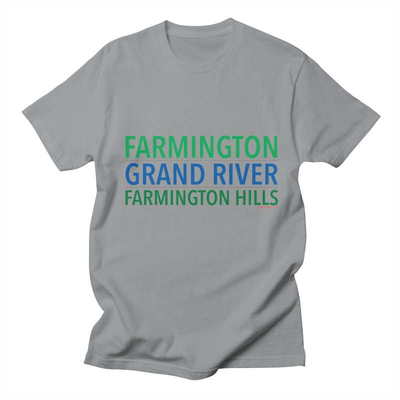 A (Grand) river runs through it Men's T-Shirt by farmingtonvoice's Artist Shop