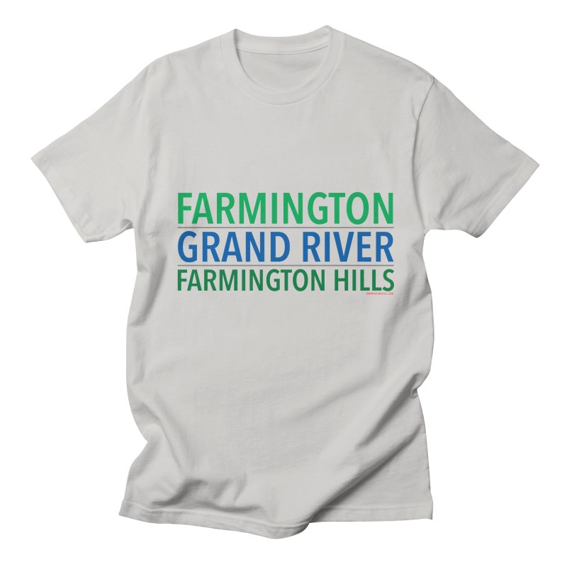 A (Grand) river runs through it Men's Regular T-Shirt by farmingtonvoice's Artist Shop