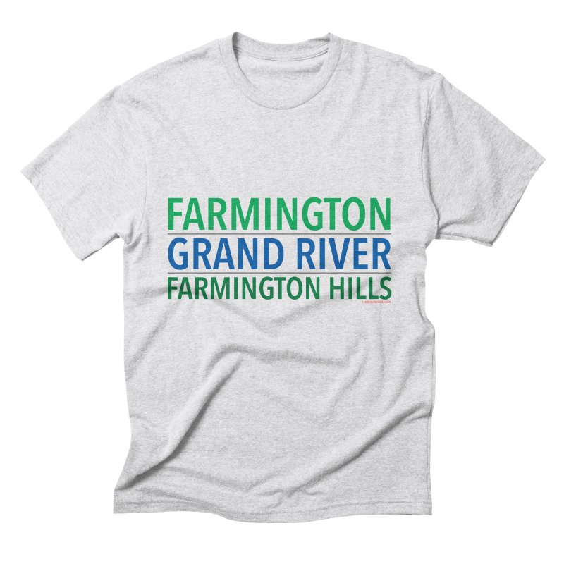 A (Grand) river runs through it Men's Triblend T-Shirt by farmingtonvoice's Artist Shop