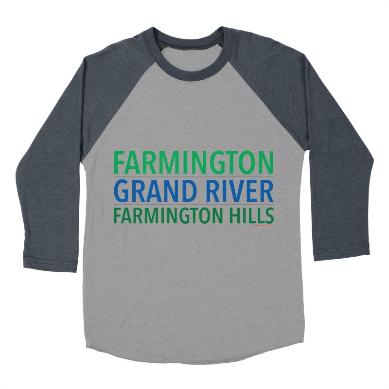 A (Grand) river runs through it Men's Baseball Triblend T-Shirt by farmingtonvoice's Artist Shop