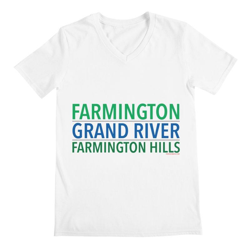 A (Grand) river runs through it Men's V-Neck by farmingtonvoice's Artist Shop