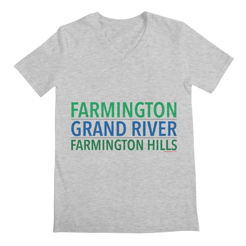 A (Grand) river runs through it Men's V-Neck by farmingtonvoice's Artist Shop
