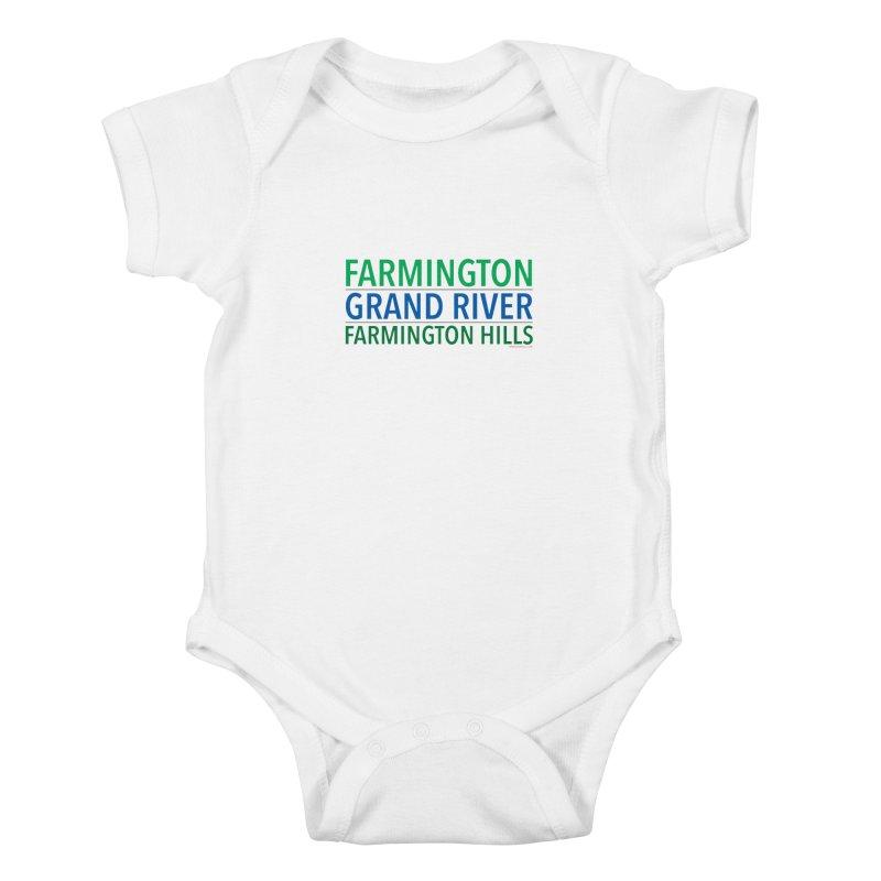 A (Grand) river runs through it Kids Baby Bodysuit by farmingtonvoice's Artist Shop