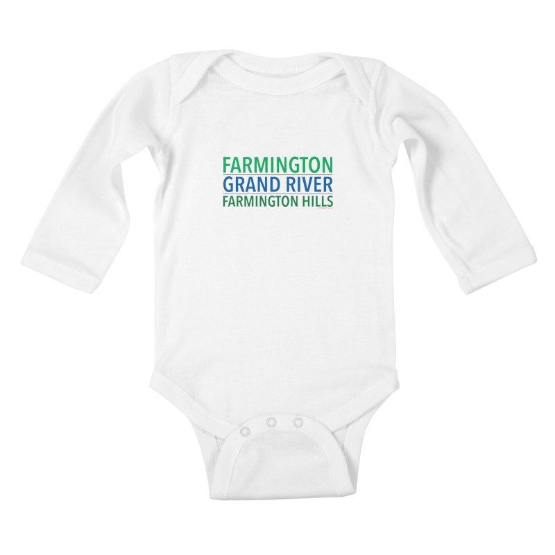 A (Grand) river runs through it Kids Baby Longsleeve Bodysuit by farmingtonvoice's Artist Shop