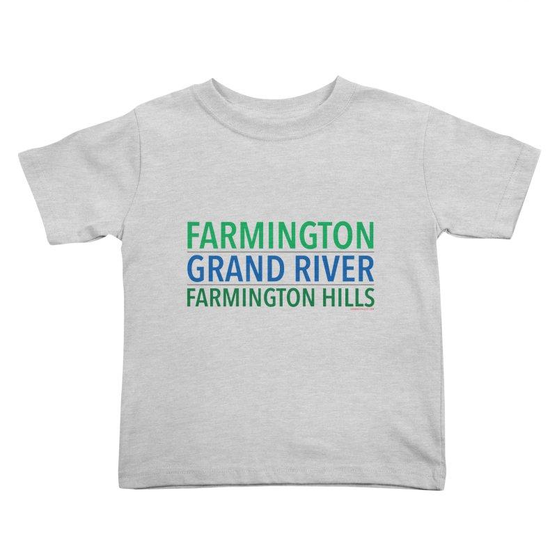 A (Grand) river runs through it Kids Toddler T-Shirt by farmingtonvoice's Artist Shop