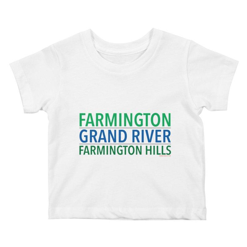 A (Grand) river runs through it Kids Baby T-Shirt by farmingtonvoice's Artist Shop
