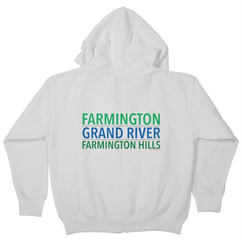 A (Grand) river runs through it Kids Zip-Up Hoody by farmingtonvoice's Artist Shop