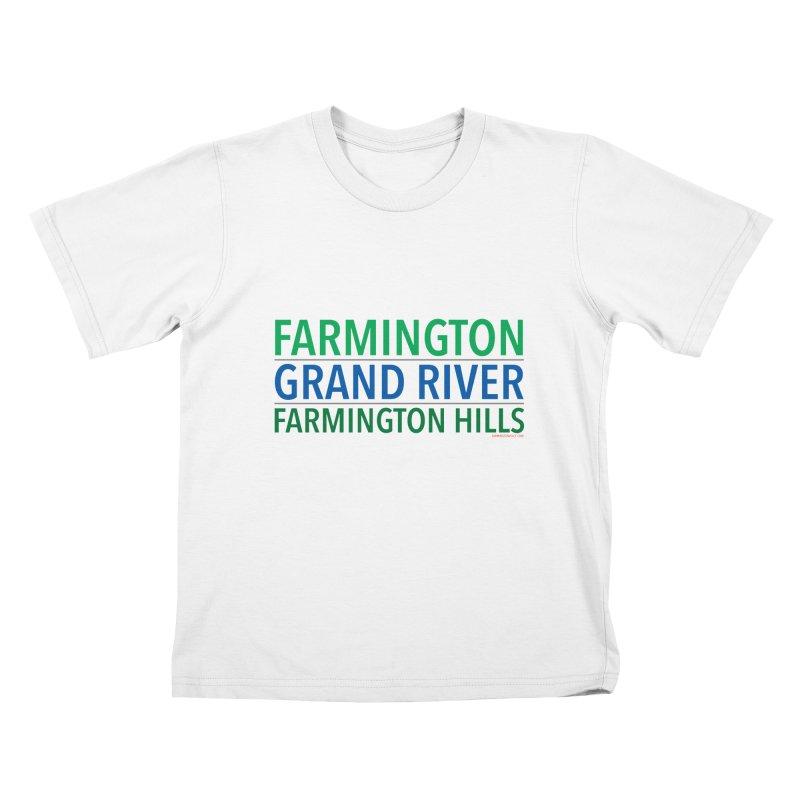 A (Grand) river runs through it Kids T-Shirt by farmingtonvoice's Artist Shop