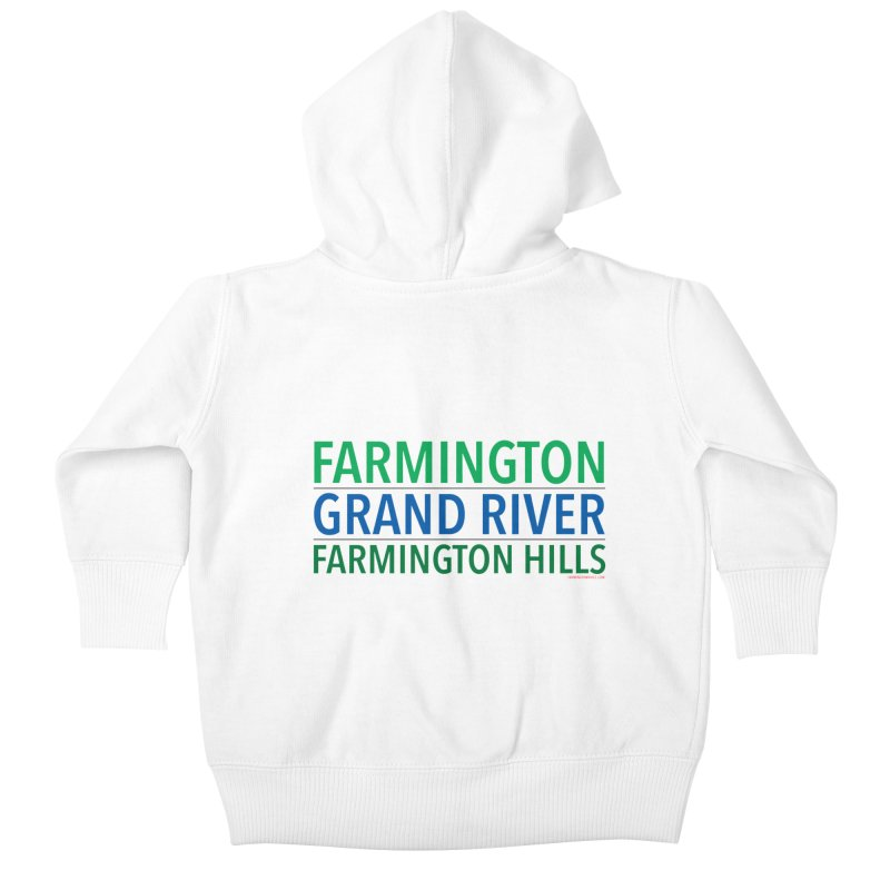 A (Grand) river runs through it Kids Baby Zip-Up Hoody by farmingtonvoice's Artist Shop