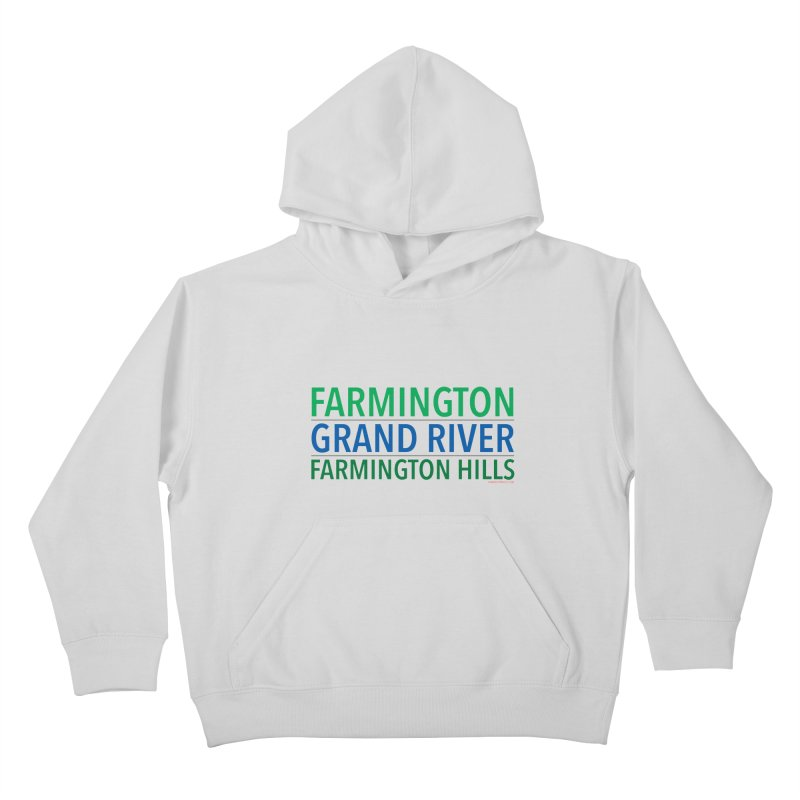A (Grand) river runs through it Kids Pullover Hoody by farmingtonvoice's Artist Shop