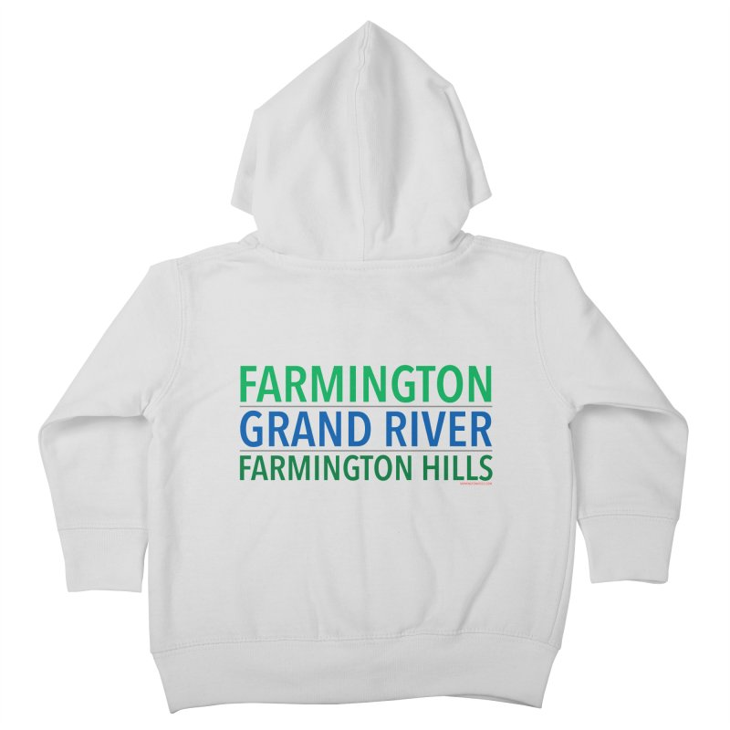A (Grand) river runs through it Kids Toddler Zip-Up Hoody by farmingtonvoice's Artist Shop