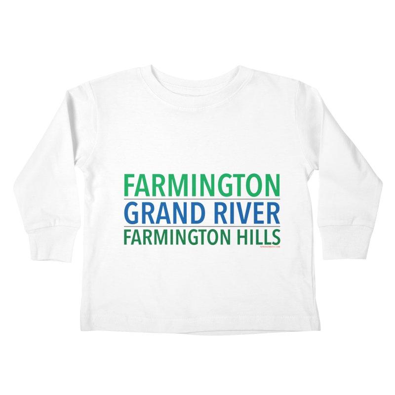 A (Grand) river runs through it Kids Toddler Longsleeve T-Shirt by farmingtonvoice's Artist Shop