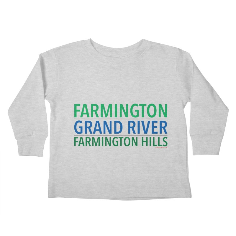 A (Grand) river runs through it Kids Toddler Longsleeve T-Shirt by farmingtonvoice's Artist Shop