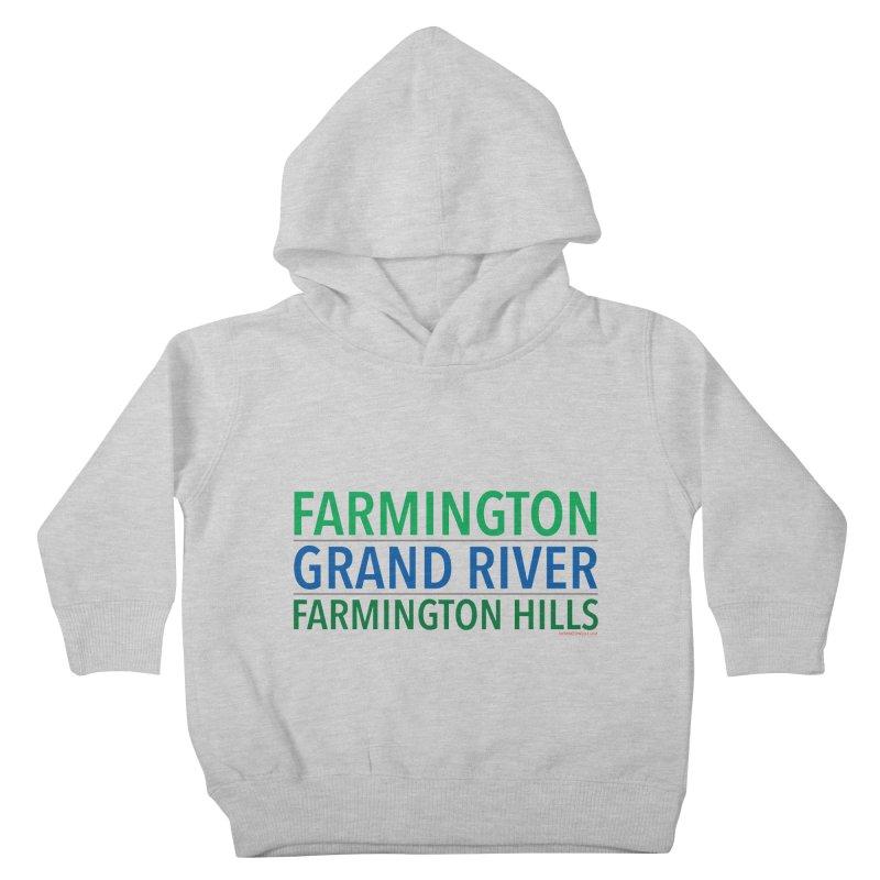 A (Grand) river runs through it Kids Toddler Pullover Hoody by farmingtonvoice's Artist Shop