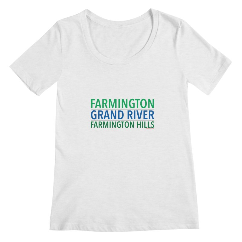 A (Grand) river runs through it Women's Regular Scoop Neck by farmingtonvoice's Artist Shop