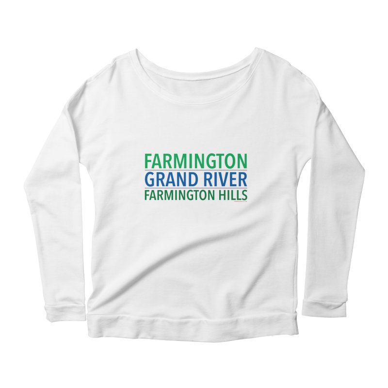 A (Grand) river runs through it Women's Scoop Neck Longsleeve T-Shirt by farmingtonvoice's Artist Shop