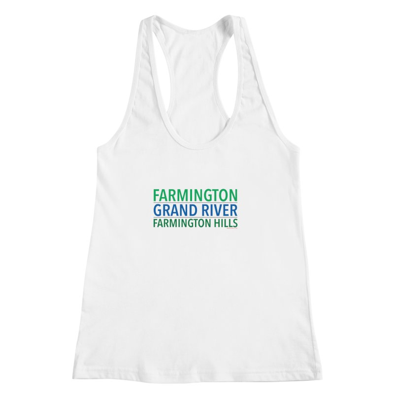 A (Grand) river runs through it Women's Racerback Tank by farmingtonvoice's Artist Shop