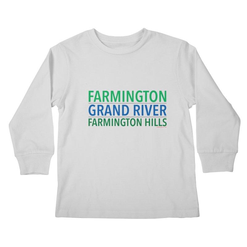A (Grand) river runs through it Kids Longsleeve T-Shirt by farmingtonvoice's Artist Shop