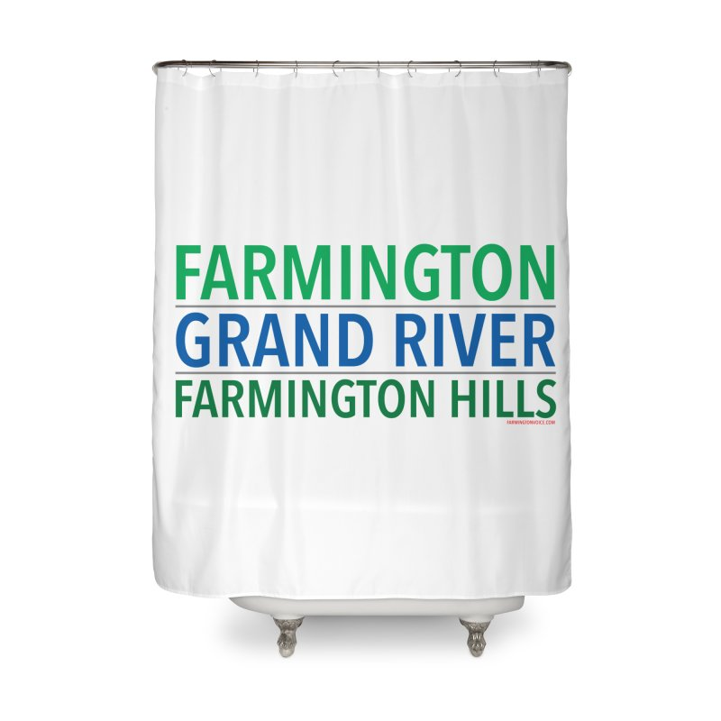 A (Grand) river runs through it Home Shower Curtain by farmingtonvoice's Artist Shop