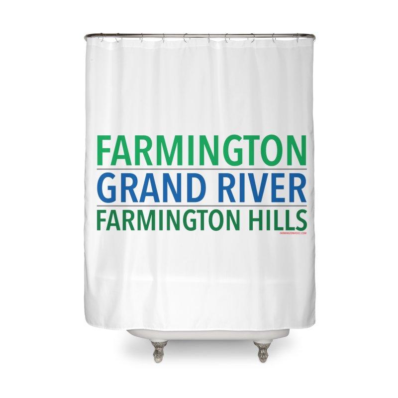 A (Grand) river runs through it Home Shower Curtain by farmingtonvoice's Artist Shop