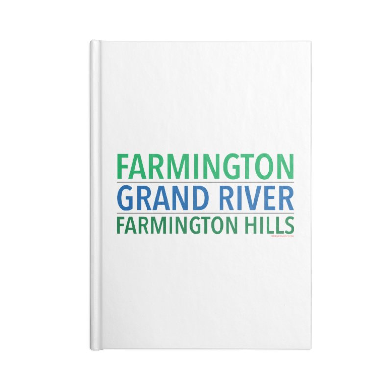 A (Grand) river runs through it Accessories Notebook by farmingtonvoice's Artist Shop