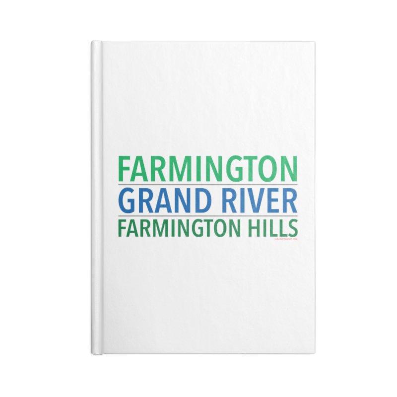 A (Grand) river runs through it Accessories Notebook by farmingtonvoice's Artist Shop