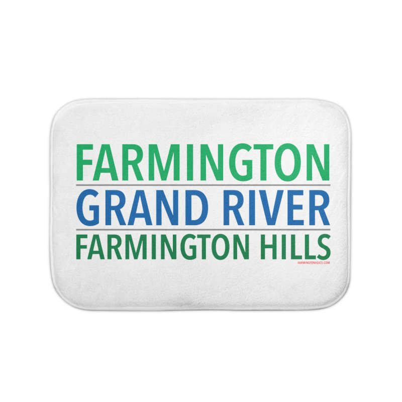 A (Grand) river runs through it Home Bath Mat by farmingtonvoice's Artist Shop