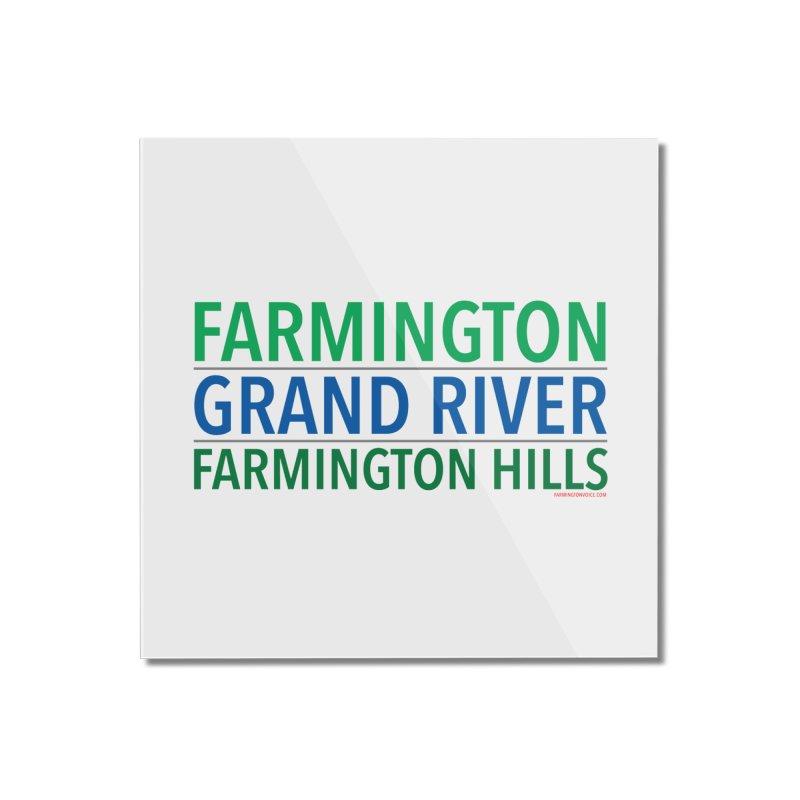 A (Grand) river runs through it Home Mounted Acrylic Print by farmingtonvoice's Artist Shop