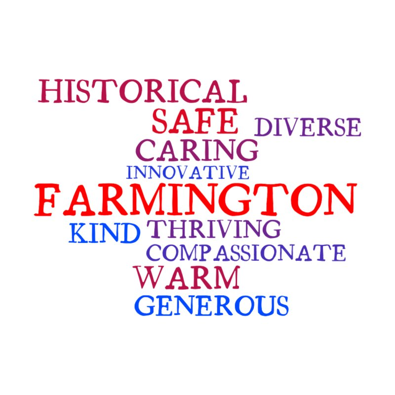 Farmington Word Cloud by farmingtonvoice's Artist Shop