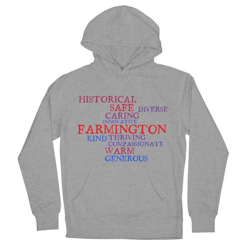Farmington Word Cloud Men's Pullover Hoody by farmingtonvoice's Artist Shop