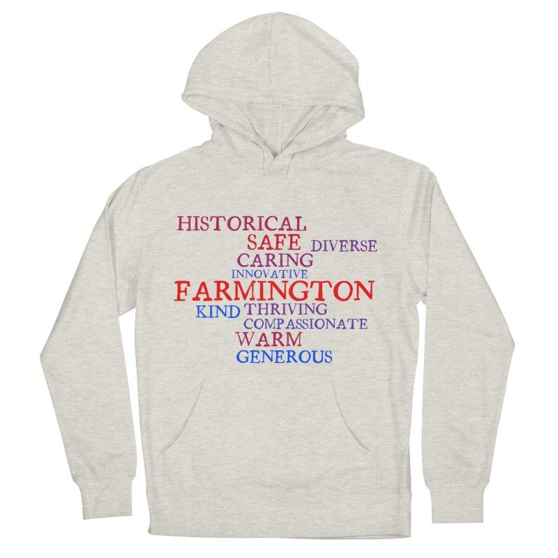 Farmington Word Cloud Men's French Terry Pullover Hoody by farmingtonvoice's Artist Shop