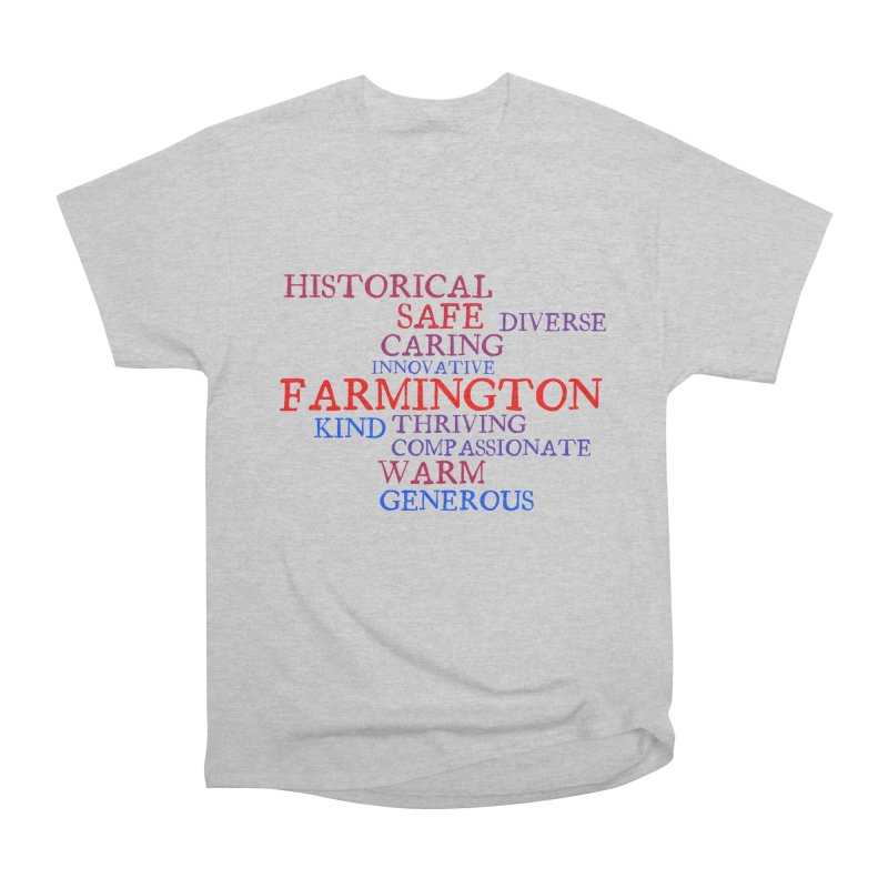 Farmington Word Cloud Men's Heavyweight T-Shirt by farmingtonvoice's Artist Shop
