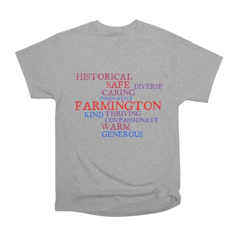 Farmington Word Cloud Men's Heavyweight T-Shirt by farmingtonvoice's Artist Shop