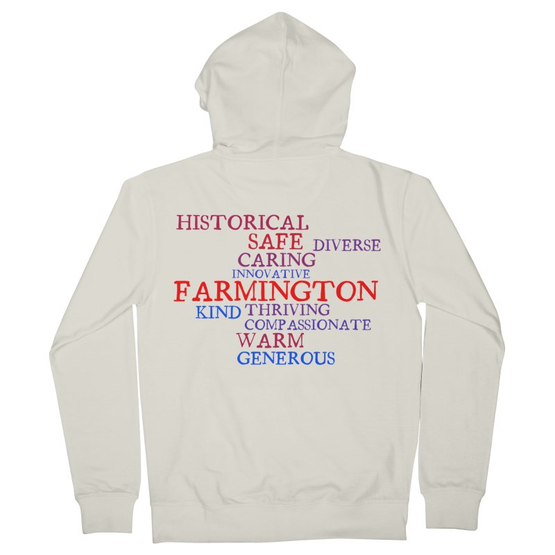 Farmington Word Cloud Women's French Terry Zip-Up Hoody by farmingtonvoice's Artist Shop
