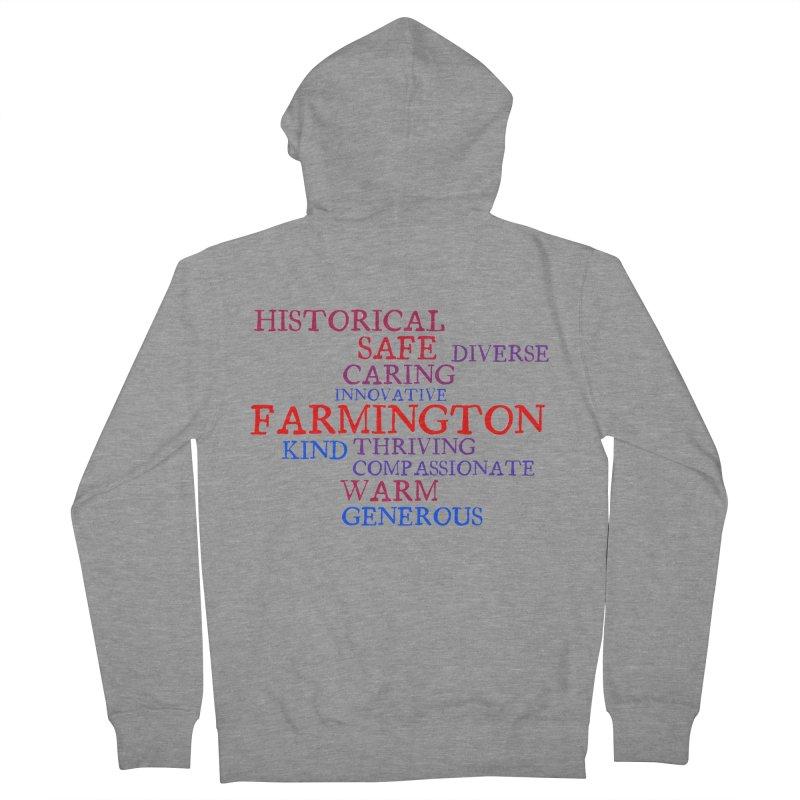 Farmington Word Cloud Men's Zip-Up Hoody by farmingtonvoice's Artist Shop