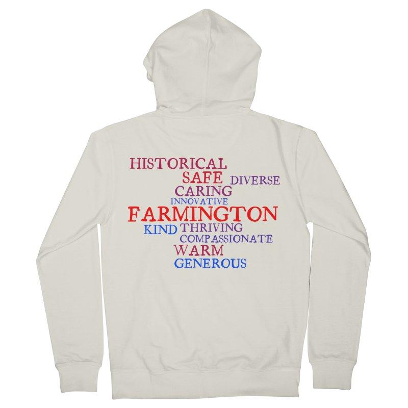 Farmington Word Cloud Men's French Terry Zip-Up Hoody by farmingtonvoice's Artist Shop