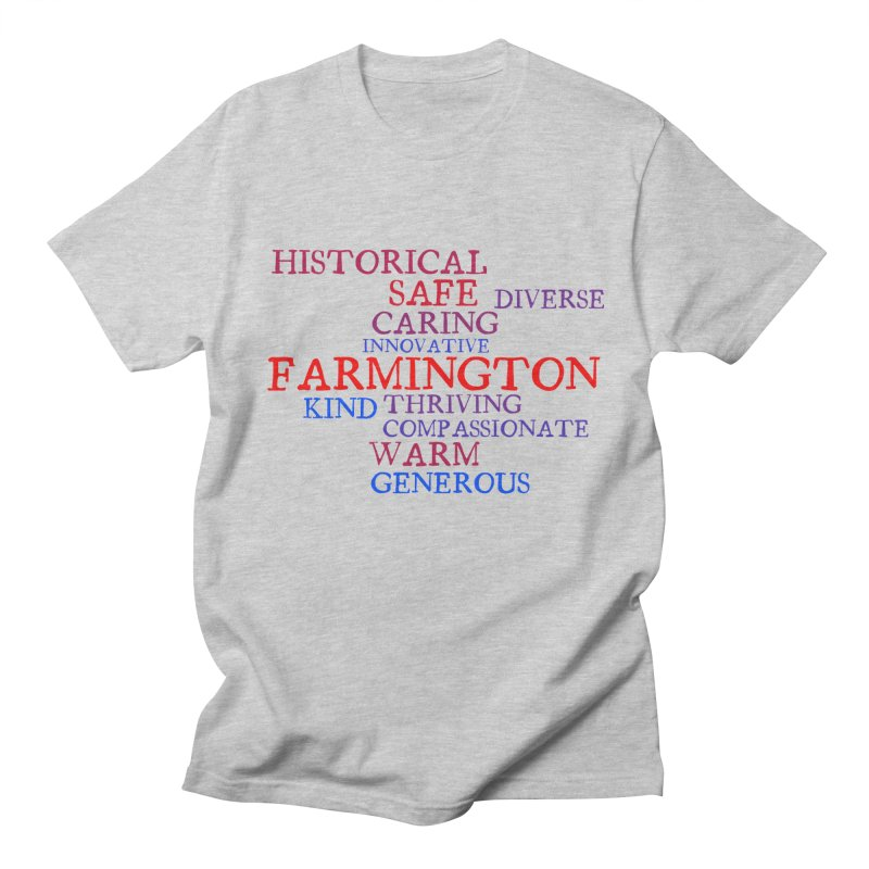 Farmington Word Cloud Men's T-Shirt by farmingtonvoice's Artist Shop