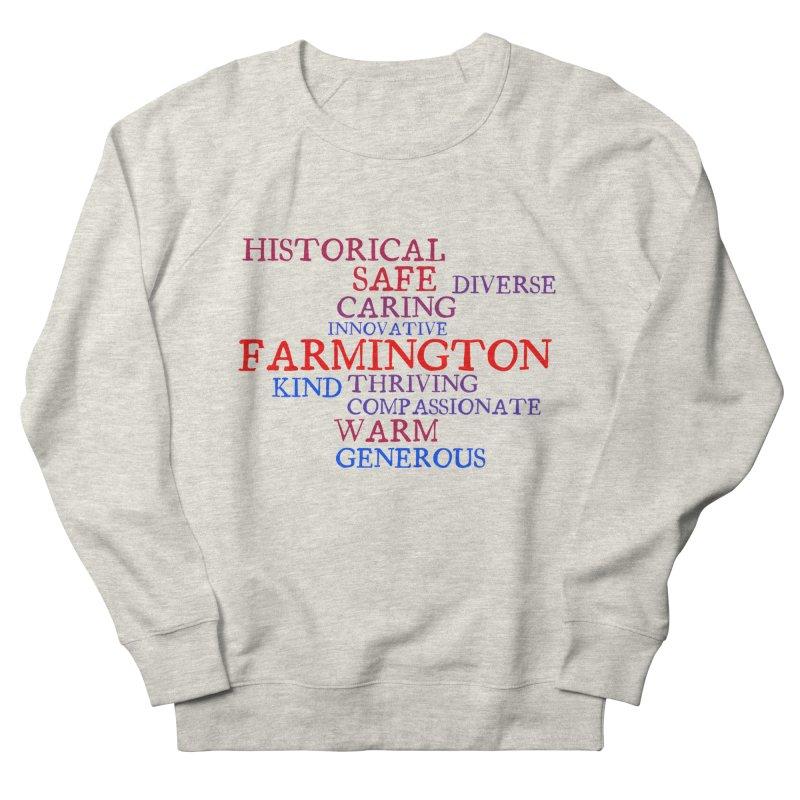 Farmington Word Cloud Men's Sweatshirt by farmingtonvoice's Artist Shop