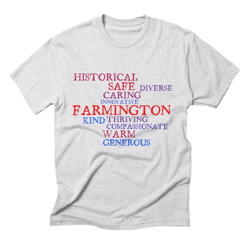Farmington Word Cloud Men's Triblend T-Shirt by farmingtonvoice's Artist Shop