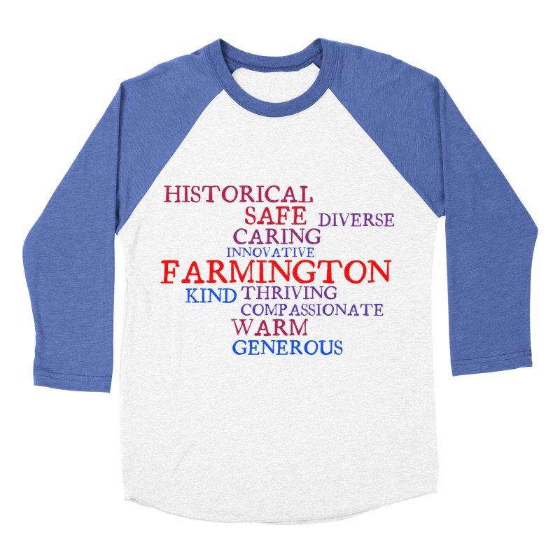 Farmington Word Cloud Women's Baseball Triblend Longsleeve T-Shirt by farmingtonvoice's Artist Shop