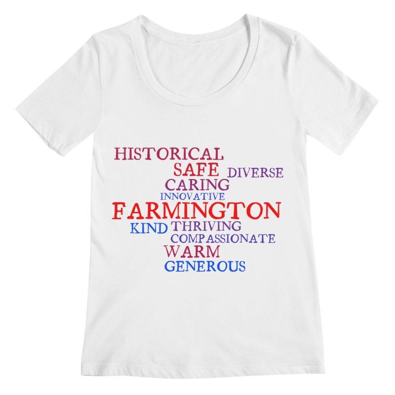 Farmington Word Cloud Women's Scoopneck by farmingtonvoice's Artist Shop