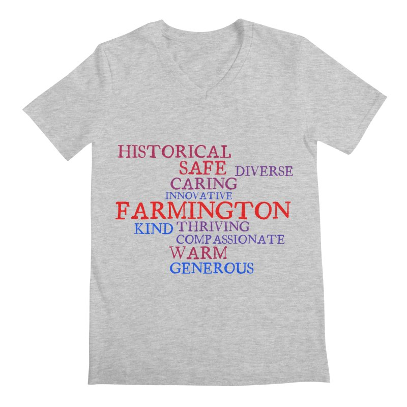 Farmington Word Cloud Men's V-Neck by farmingtonvoice's Artist Shop