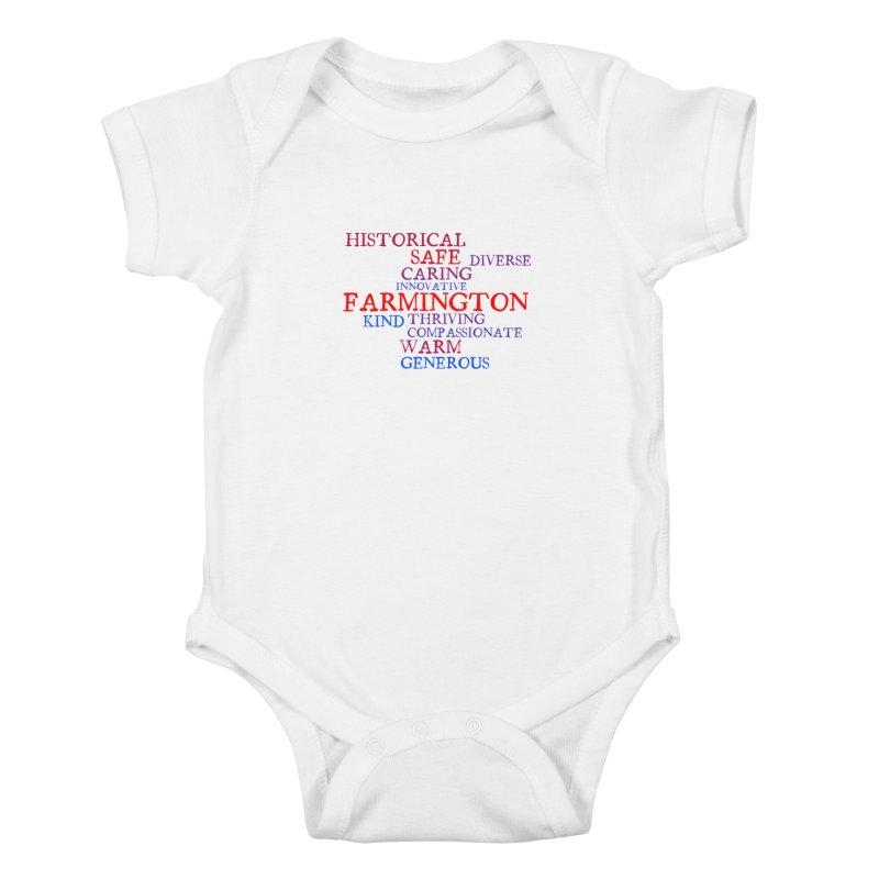 Farmington Word Cloud Kids Baby Bodysuit by farmingtonvoice's Artist Shop