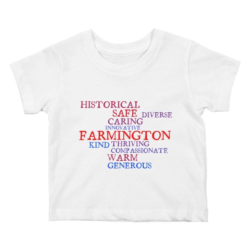 Farmington Word Cloud Kids Baby T-Shirt by farmingtonvoice's Artist Shop