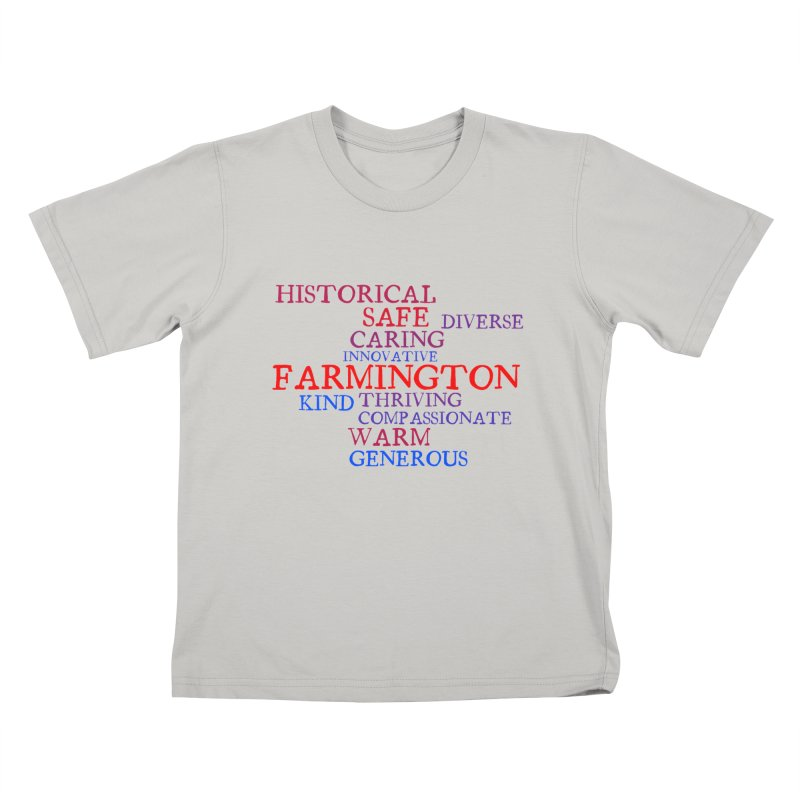 Farmington Word Cloud Kids T-Shirt by farmingtonvoice's Artist Shop